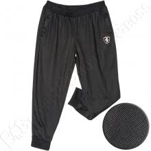 Спортивные штаны на манжете чёрного цвета Big Team