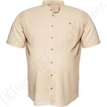 Льняная рубашка бежевого цвета Big Team