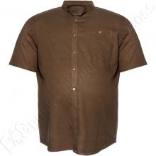 Льняная рубашка цвета хаки Big Team