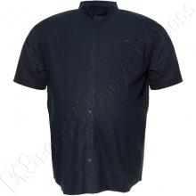 Льняная рубашка тёмно синего цвета Big Team