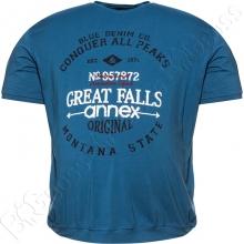 Футболка на манжете синего цвета Annex