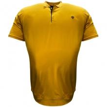 Поло лакоста на манжете жёлтого цвета Annex