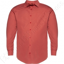 Рубашка однотонная терракотового цвета Big Team