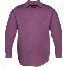 Рубашка однотонная сливового цвета Big Team