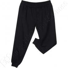 Трикотажные спортивные штаны на манжете тёмно синего цвета Annex