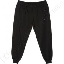 Трикотажные спортивные штаны на манжете чёрного цвета Annex