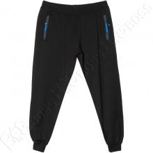 Трикотажные спортивные штаны на манжете чёрного цвета Dekons