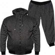 Тёплый (зимний) спортивный костюм чёрного цвета Big Team