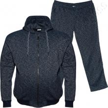 Тёплый (зимний) спортивный костюм тёмно синего цвета Big Team