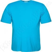 Футболка однотонная голубого цвета Big Team