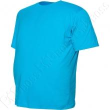 Футболка однотонная голубого цвета Big Team 2