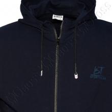 Олимпийка с капюшоном тёмно синего цвета Big Team 1