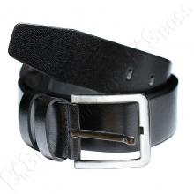 Кожаный ремень чёрного цвета Olser