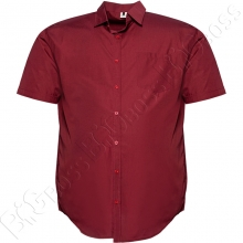 Рубашка короткий рукав бордового цвета Big Team