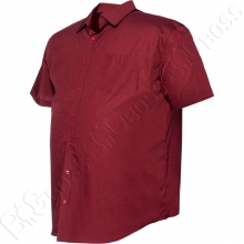 Рубашка короткий рукав бордового цвета Big Team 2
