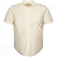 Рубашка короткий рукав цвета шампань Big Team