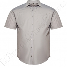 Рубашка короткий рукав светло-серого цвета Big Team