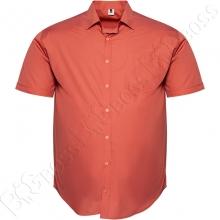 Рубашка короткий рукав цвета терракот Big Team