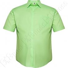 Рубашка короткий рукав салатового цвета Big Team
