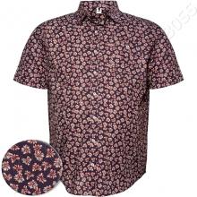 Рубашка короткий рукав в стильный принт Big Team