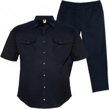 Весенний костюм (коттон) тёмно синего цвета Big Team