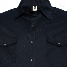 Весенний костюм (коттон) тёмно синего цвета Big Team  2