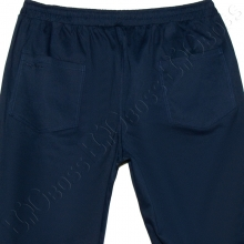 Весенние штаны на резинке тёмно синего цвета Big Team  4