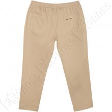 Весенние штаны на резинке песочного цвета Big Team  1