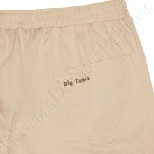 Весенние штаны на резинке песочного цвета Big Team  3