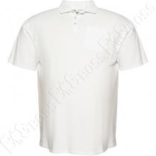 Поло белого цвета (ткань лакоста) Big Team