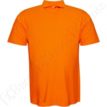 Поло оранжевого цвета (ткань лакоста) Big Team