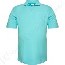 Поло голубого цвета (ткань лакоста) Big Team