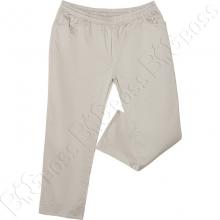 Летние штаны на резинке бежевого цвета Divest