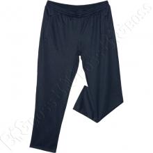Трикотажные спортивные штаны тёмно синего цвета (ткань сота) Big Team