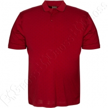 Поло бордового цвета в декор Borcan Club