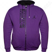 Осенняя толстовка с капюшоном фиолетового цвета Big Team