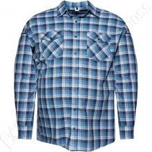 Рубашка тонкая фланель в клетку Big Team
