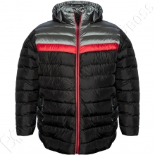 Куртка прямого кроя (еврозима) чёрного цвета Olser