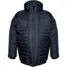 Зимняя куртка прямого кроя тёмно синего цвета Olser