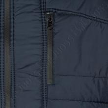 Зимняя куртка прямого кроя тёмно синего цвета Olser 2