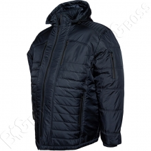 Зимняя куртка прямого кроя тёмно синего цвета Olser 3