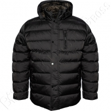 Зимняя куртка прямого кроя чёрного цвета Dekons