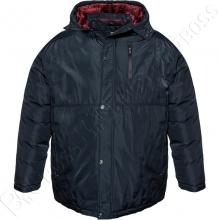 Зимняя куртка прямого кроя тёмно синего цвета Annex