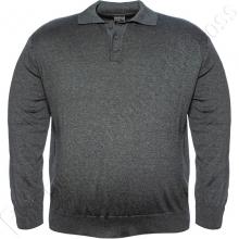 Свитер- поло серого цвета Borcan Club