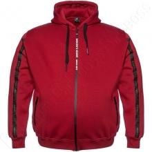 Тёплая (зимняя) толстовка бордового цвета Dekons
