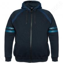 Тёплая (зимняя) толстовка тёмно синего цвета Dekons