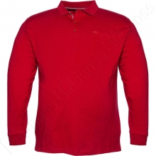 Футболка поло (прямого кроя) бордового цвета Borcan Club