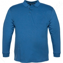 Футболка поло (прямого кроя) голубого цвета Borcan Club