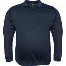 Футболка поло (на манжете) тёмно синего цвета Borcan Club
