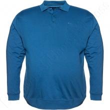 Футболка поло (на манжете) голубого цвета Borcan Club